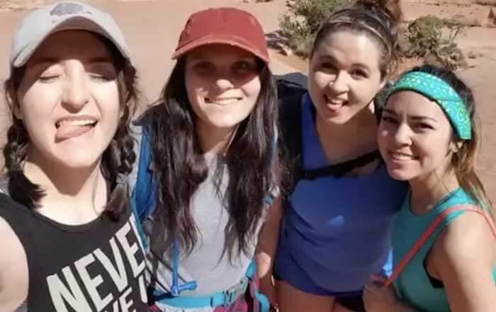 Cassie Stringer and three friends