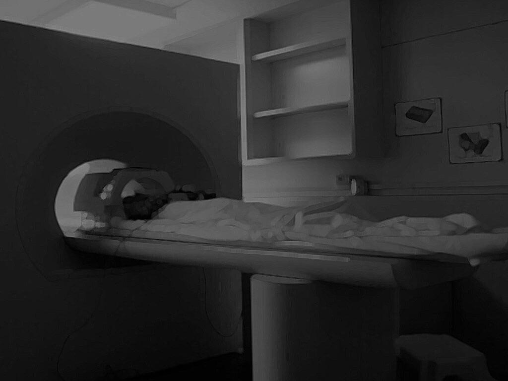 Person going into MRI
