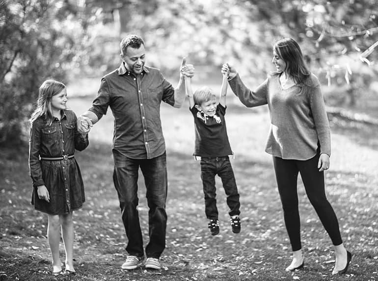Thomas Family outdoors