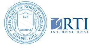 Logos for the University of North Carolina and RTI International