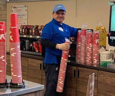 Austin Loeliger at work at Wawa in West Chester, PA