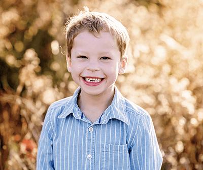 5-year-old boy in a field