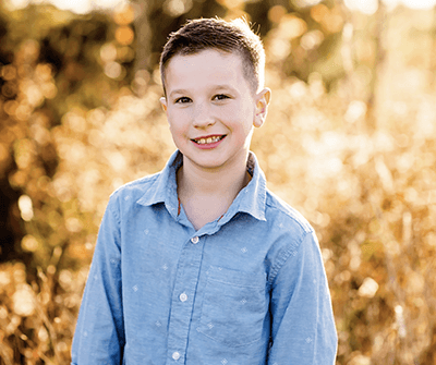 Young boy in a field
