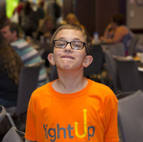 A young attendee at the 2018 International Fragile X Conference.