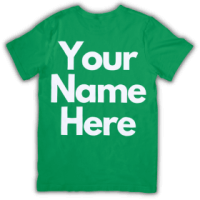 your name here green t-shirt