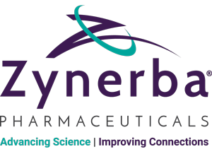 Zynerba Pharmaceuticals conference sponsor logo display